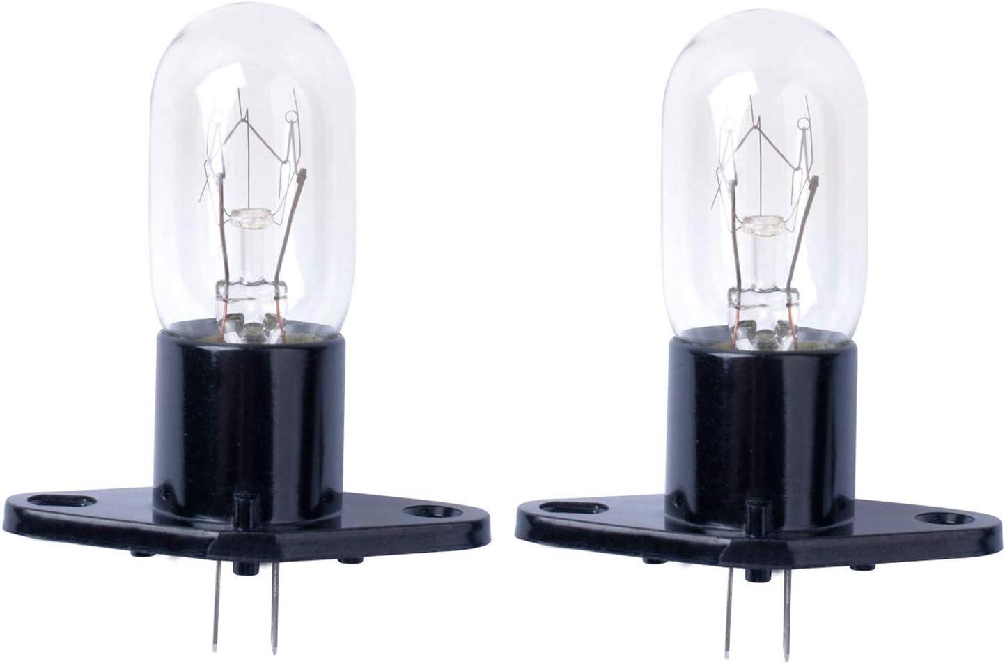 Poweka Bombilla de Microondas 20W 240V T170 para Horno de Microondas Bosch, LG, Panasonic, Siemens, Neff (2 Piezas)