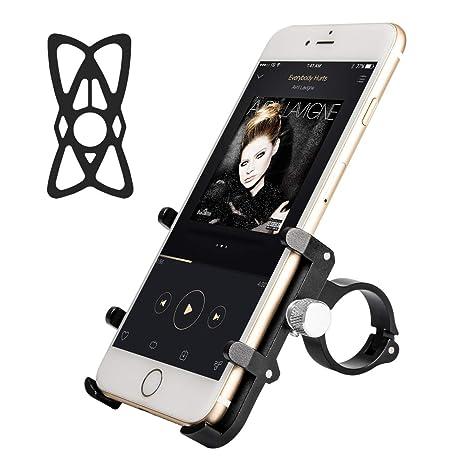 Amazon.com: Soporte de teléfono para bicicleta y motocicleta ...