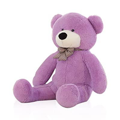 "WOWMAX 4 Foot Purple Giant Cuddly Plush Stuffed Animals Teddy Bear Toy Doll 47"" for Birthday Valentine's Day: Toys & Games"