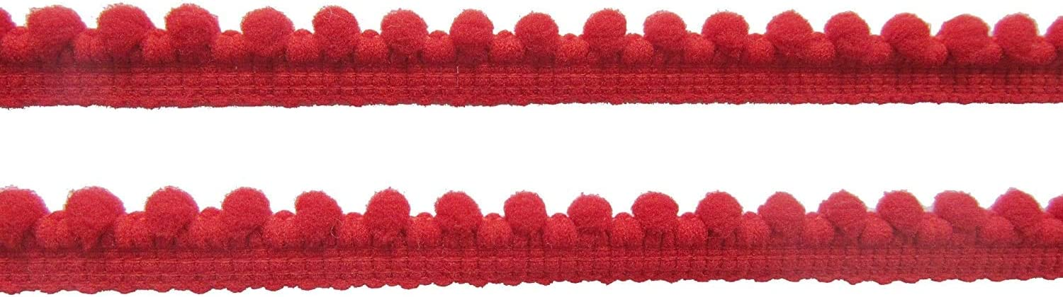 YYCRAFT 20 Yards 3//8 Wide Tiny Pom Pom Ball Fringe Trim DIY Craft Sewing Accessory for Home Curtain Clothes Pillow Decoration pom Size 5mm,Fuschia