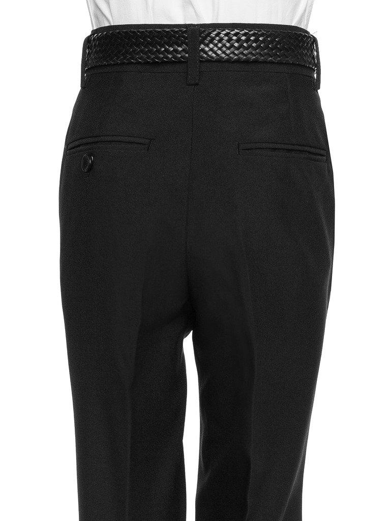 RGM Boys Dress Pants Flat-Front - Slim fit Dress Slacks 100% Dacron Navy 3 by RGM (Image #3)