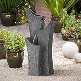 John Timberland Exton 31'' High Gray Stone Indoor/Outdoor Three Tier Fountain