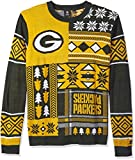 FOCO Green Bay Packers Patches Ugly Crew Neck Sweater Extra Large