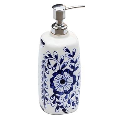 Benzara Blue and White Ceramic Liquid Pump