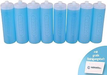 Gro/ßer Schwerer K/ühlakku f/ür K/ühltaschen und K/ühlboxen 24h K/ühlleistung blau mit gratis K/ühlakku Reinigungstuch K/ühlakku 6er Pack 6 x 750g