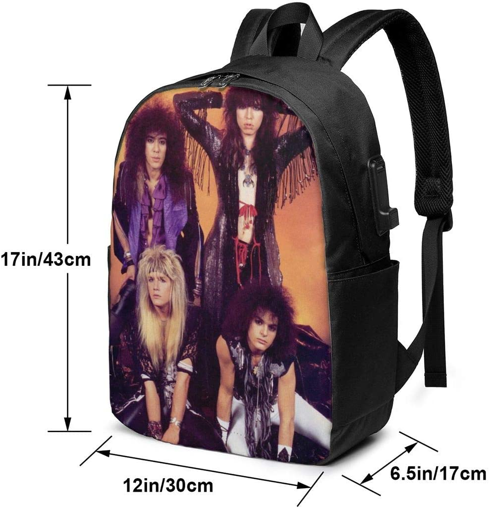 Comfortable and Durable Laptop Backpack Travel Backpack AMZOPDGS Cinderella Rock Band Fashionable Suitable for Men and Women with USB Charging Port 17 Inches