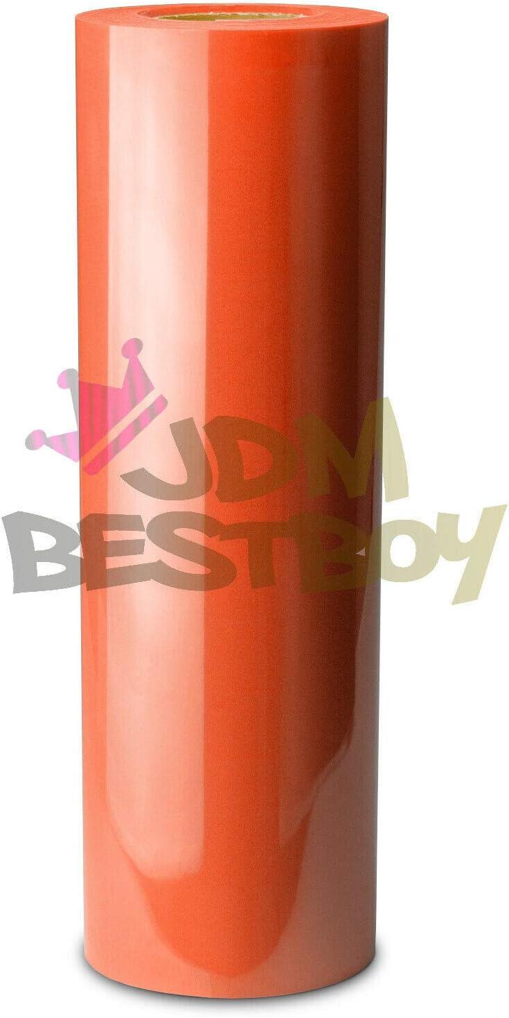 JD-ESSMO Orange Flock Heat Transfer Vinyl HTV Sheet T-Shirt 20 Wide Iron On Heat Press 20x60