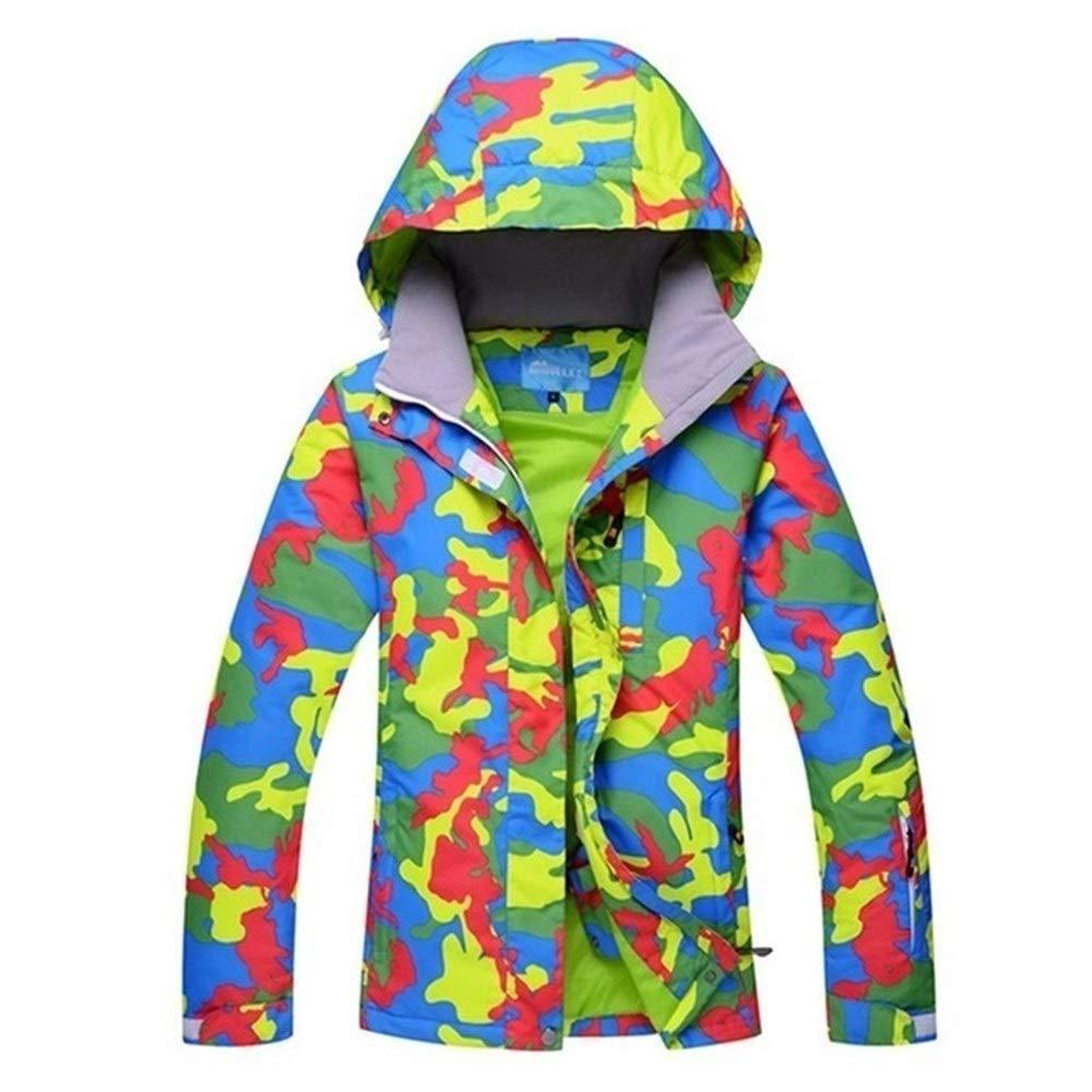 CHENEVANS Frauen Skijacke Bunter Druck Snowboarding warme wasserdichte Winddichte Jacken Kleidung