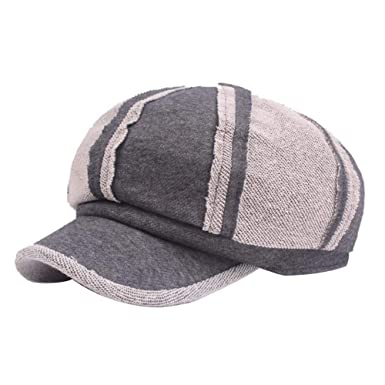 Sombrero De Espiga De Algodón Unisex Gorras De Boina Ajustables ...