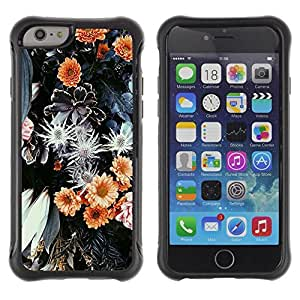 Suave TPU Caso Carcasa de Caucho Funda para Apple Iphone 6 PLUS 5.5 / Flowers Floral Nature Petal Green Summer / STRONG