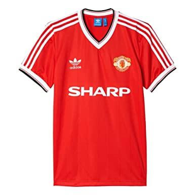 237903a11e5 adidas T-Shirt - Mufc 84 Jersey red size  S (Small)  Amazon.co.uk  Clothing