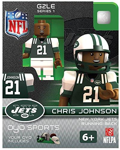 NFL New York Jets Chris Johnson Gen 2 Mini Figure, Small