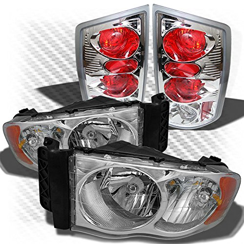 - Xtune for 2002-2005 Dodge Ram 1500, 2003-2005 Ram 2500/3500 Headlights + Altezza Style Tail Lights 2004