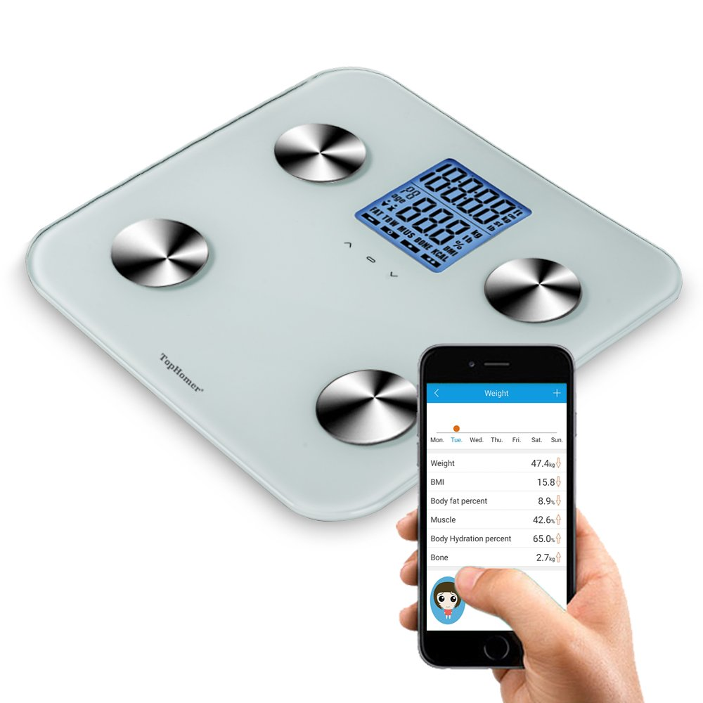 TOP-MAX Bathroom Weighting Scale-Work as Body Composition Analyzier, Bluetooth