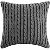 Woolrich Williamsport Square Pillow, 18 by 18-Inch, Black/Grey