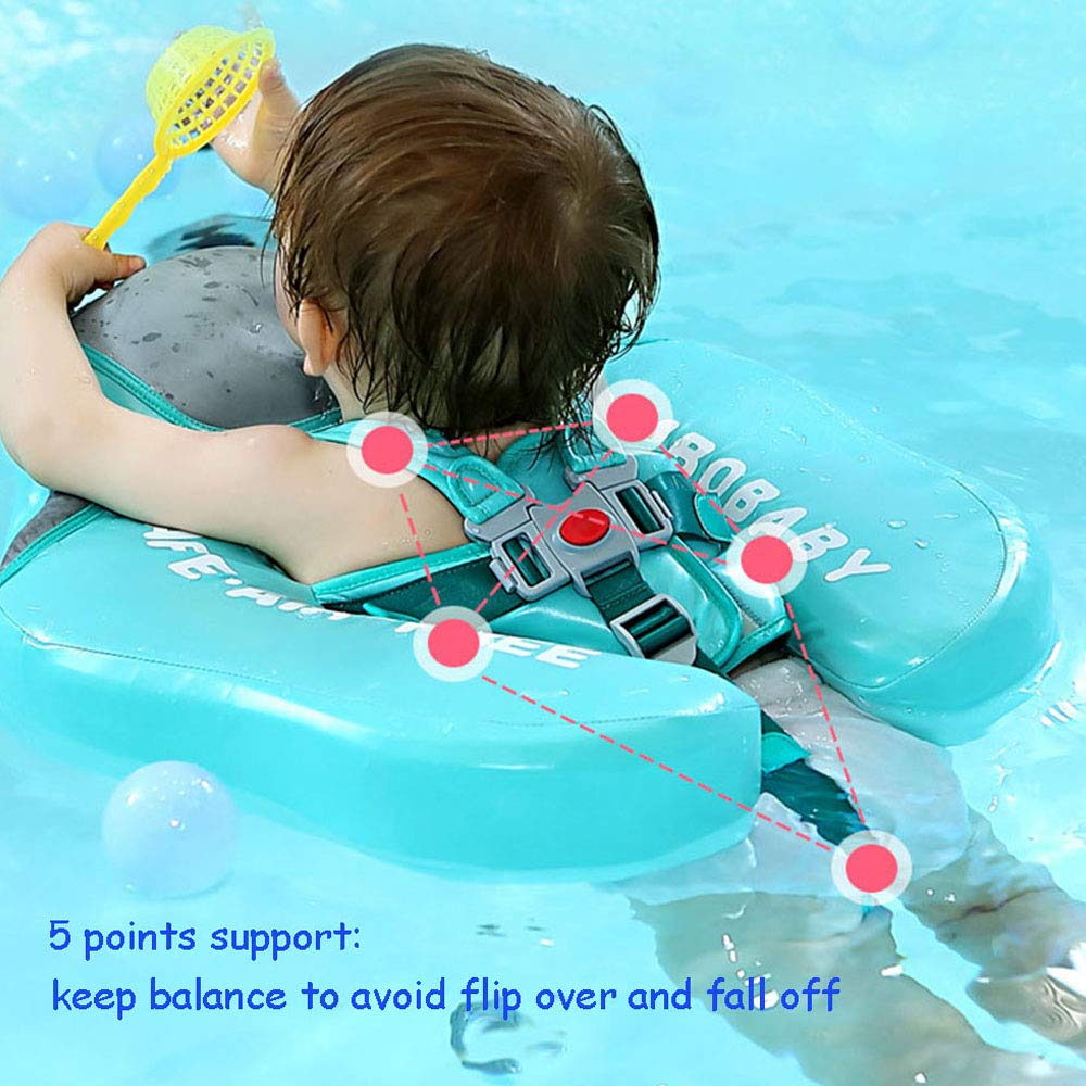 V Convey Upgraded Baby Infant Soft Solid Non-Inflatable Mambobaby Float Lying Swimming Ring Children Waist Float Ring Floats Pool Toys Swimming Pool Swim Trainer Classic Swim Ring (Green Cloth) by V Convey (Image #8)