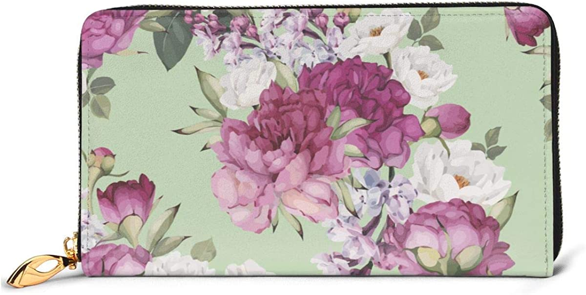 Floral Pattern With Peonies Womens New Design Purse Clutch Bag Card Holder New Fashion Wristlets Wallets