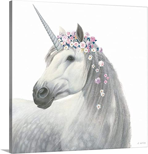 Spirit Unicorn II Sq Enchanted Canvas Wall Art Print