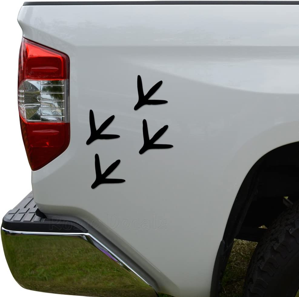 Turkey Tracks Prints Hunting Car Truck Window Decor Vinyl Decal Sticker