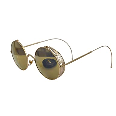 37111991d12 Ucspai Retro Steampunk Sunglasses Goggles Gold Frame with Reflective Lens   Amazon.co.uk  Clothing