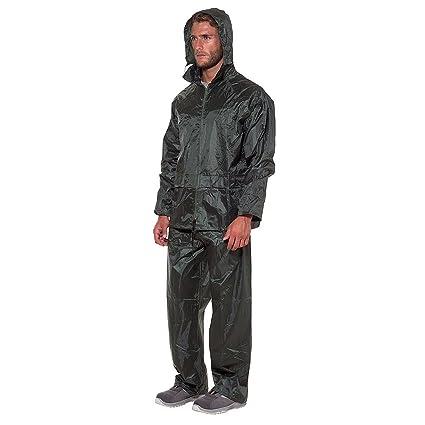 Logica completo Nailon verde impermeable Ripstop chaqueta pantalones ...