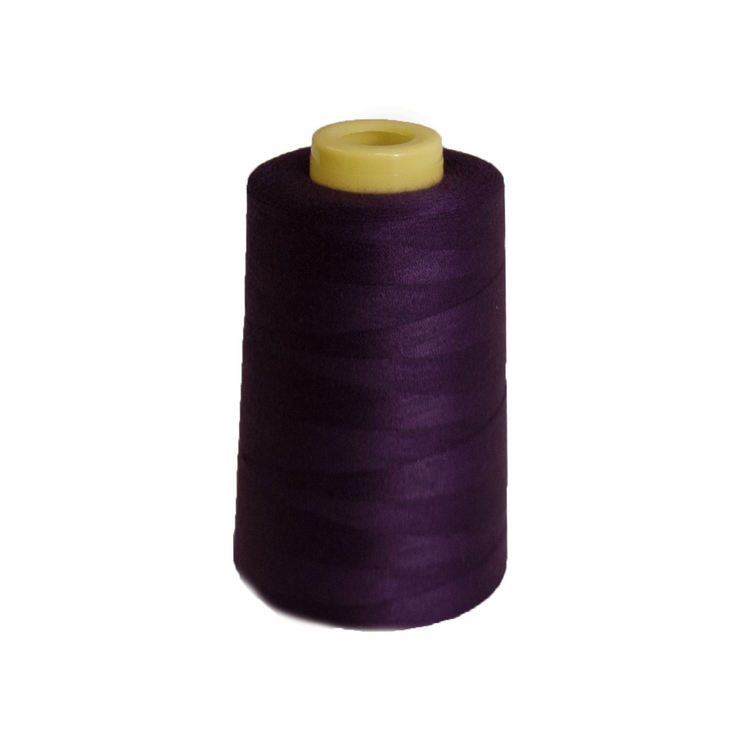 6000 Yards Dark Purple Sewing Thread All Purpose 100/% Spun Polyester Spools Overlock Cone Upholstery, Canvas, Drapery, Beading, Quilting