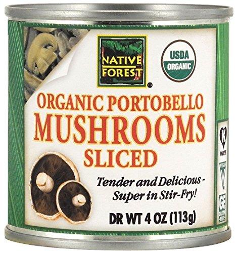 Portobello Mushroom (Native Forest Organic Sliced Portobello Mushrooms, 4-Ounce Cans (Pack of 6))