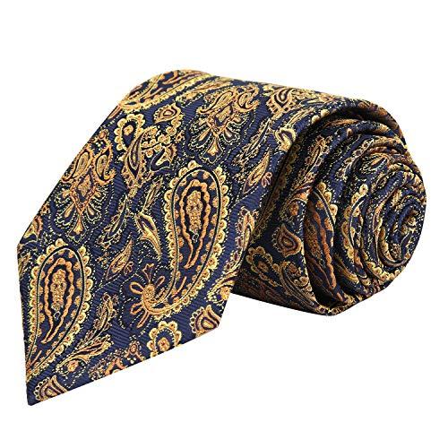motif Pochette Alizeal Vineux Alieal homme cravate Rouge De or Paisley 6qqxpHIwrn