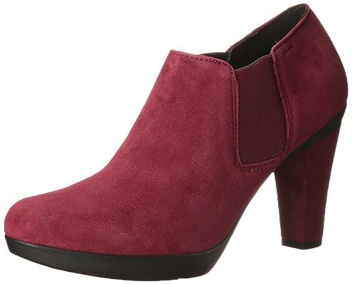 Peep Pumps Bordo D54r4 Rojo Toe A Inspiration Zapatos Mujer Geox RgxaOqtEwn