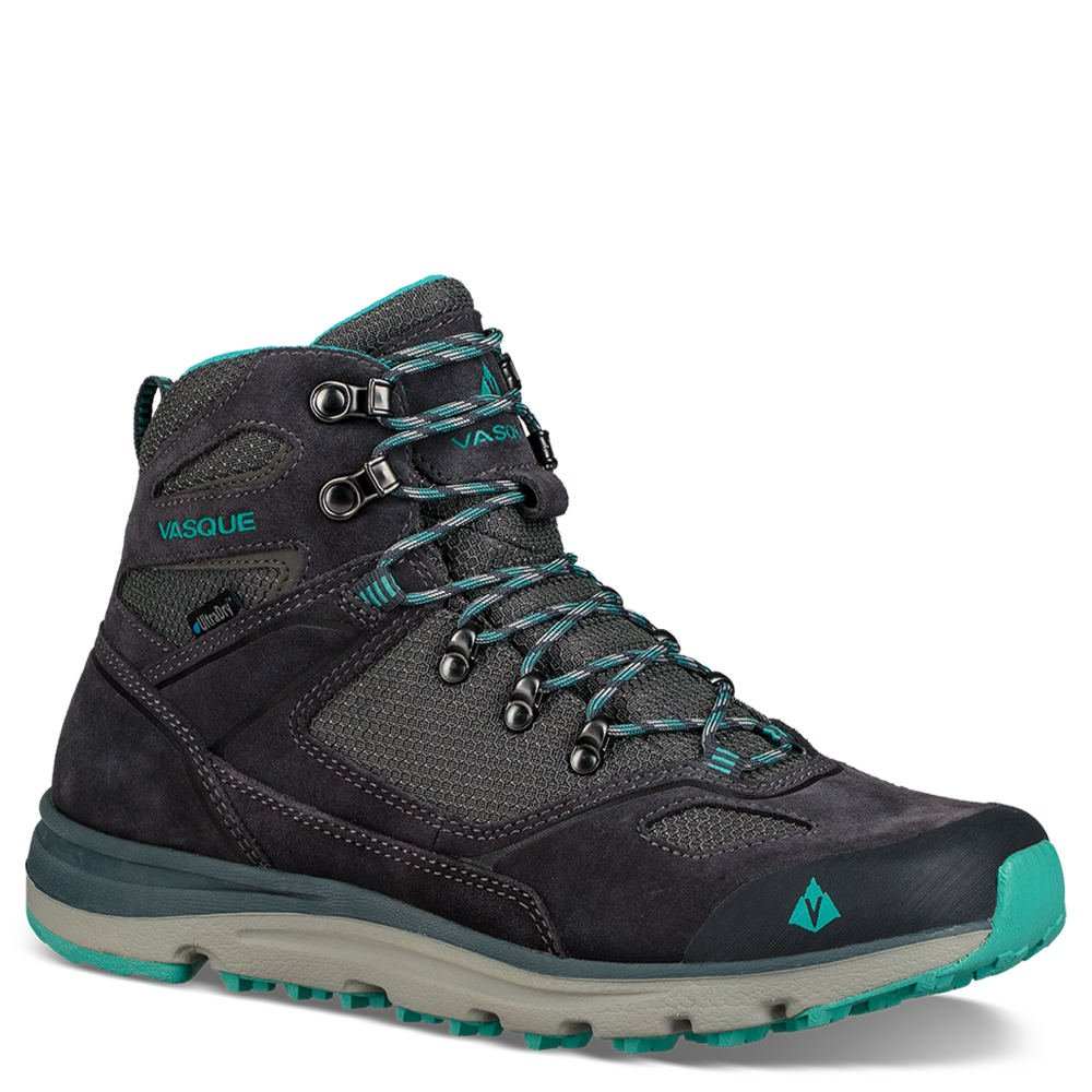 Vasque Women Mesa Trek UltraDry Waterproof Mid Hiking Boots B072LPF24S 8 M US|Ebony/Baltic