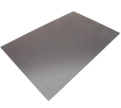 300x200x0 5MM 3K Carbon Fiber Composite Sheet Panel Plain Weave Matt Finish