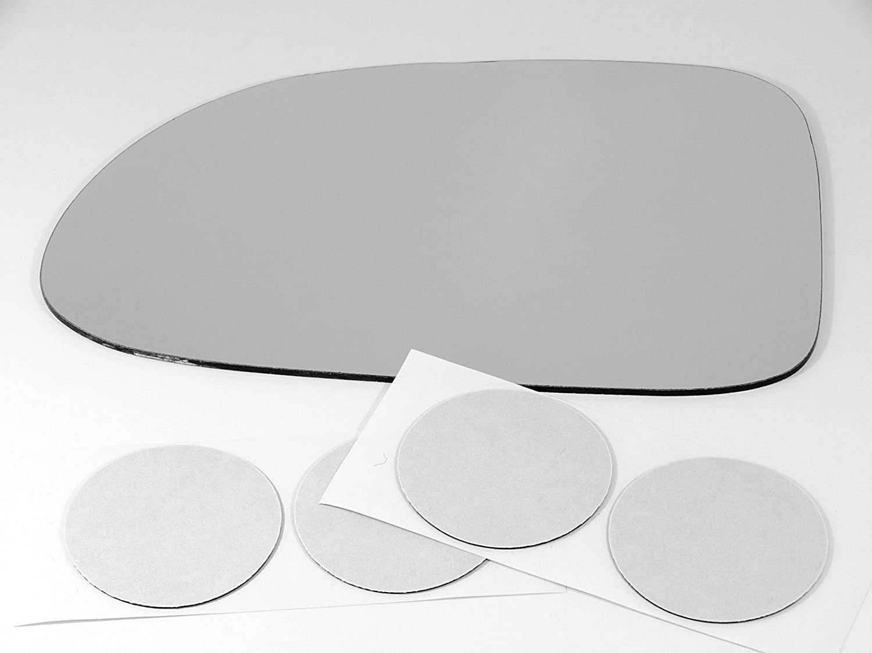 Fits Dakota Durango Left Driver Heated Folding Mirror Glass Lens w//Adhesive USA