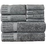 luxury hotel u0026 spa towel turkish cotton eight piece towel set gray piano set of 8
