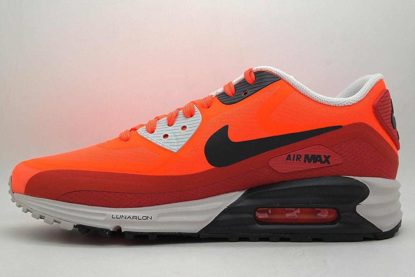 Nike Men's Air Max Lunar 90 WR Sneakers, Crimson Dark Ash Red Clay, 13 D(M) US