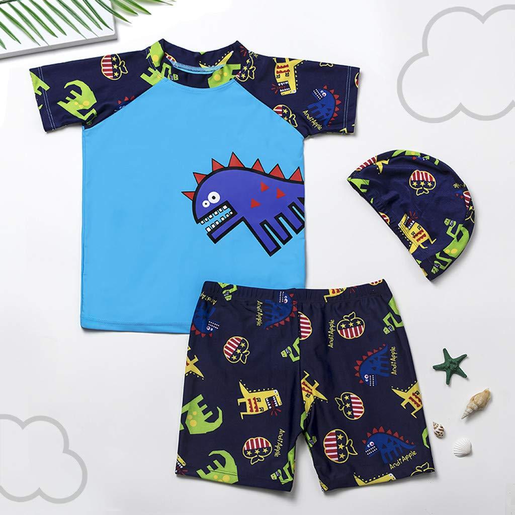 Little Boy Swimwear Sets,Jchen(TM) Baby Kids Little Boys Dinosaur Print Beachwear Swimsuit Bathing Suit for 1-8 Y (Age: 2-3 Years, Blue) by Jchen Swimsuit (Image #2)