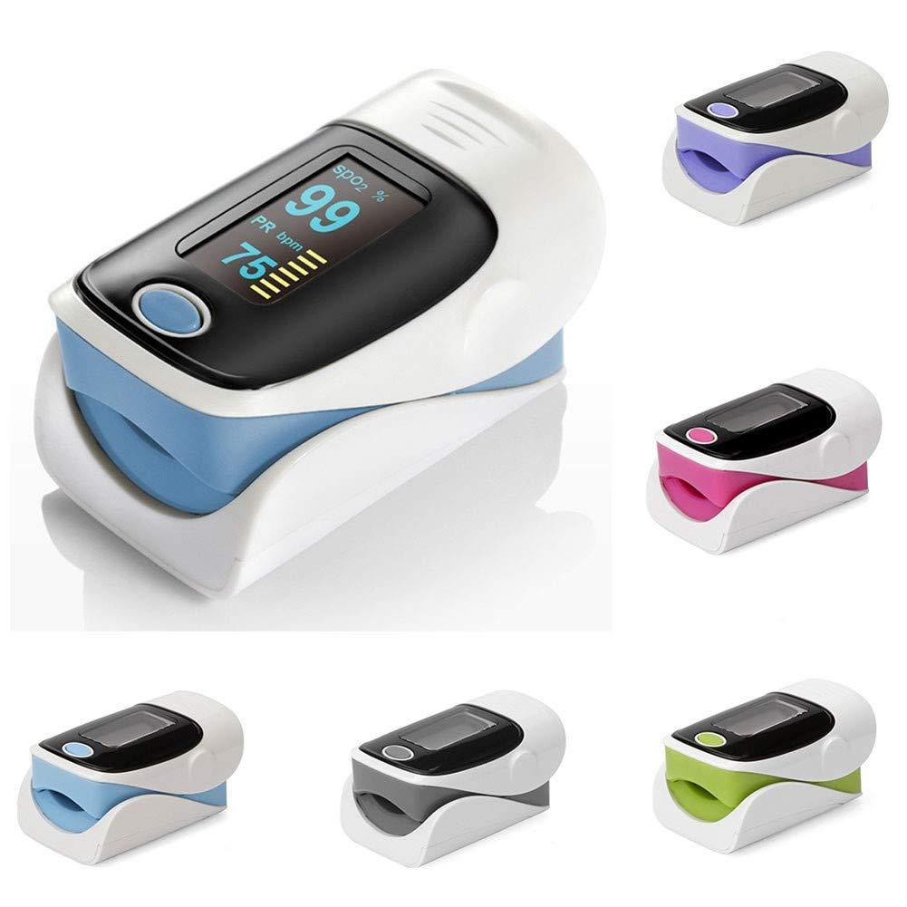 Oxímetro de pulso, pulsioxímetro, saturómetro de dedo, portátil - color aleatorio: Amazon.es: Iluminación
