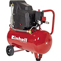 Einhell TC-AC 190/24 - Compresor, depósito de 24 l, 2850 rpm, 8 bar, 1500 W, 220 V, color rojo y negro (ref. 4007325)