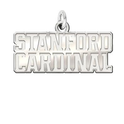 Amazon Stanford University Cardinal Natural Finish Cutout Logo Charm 1 2 Inch Jewelry