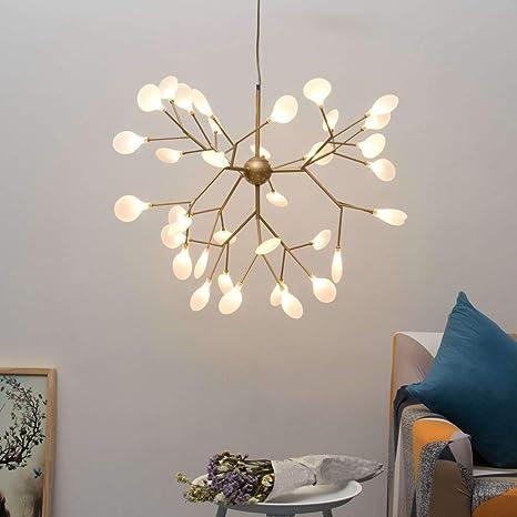 Lámpara de techo estilo de conexión dorada con 36 luces ...