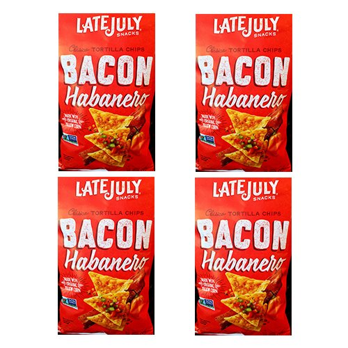 Late July Chip Trtlla Bacon Hbnro C (Pack of 4)