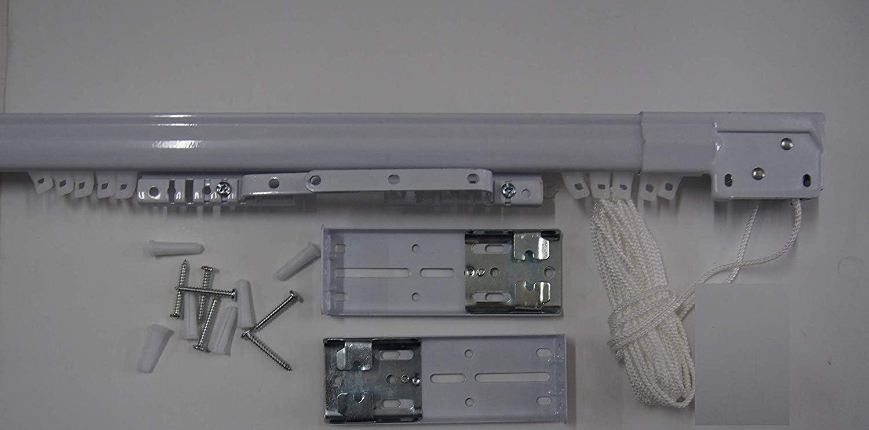 Bastone per Tenda Estensibile Varie Misure Binario Colore Bianco da 71 A 122 CM