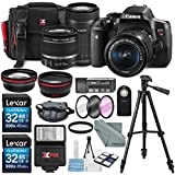 Canon EOS Rebel T6i + EF-S 18-55 + EF-S 55-250 Lens w/ Accessory Bundle Kit