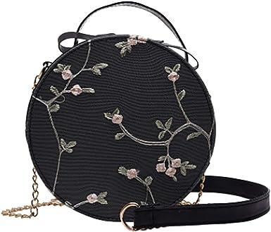 Elegant Floral Circles Print Gym Bag