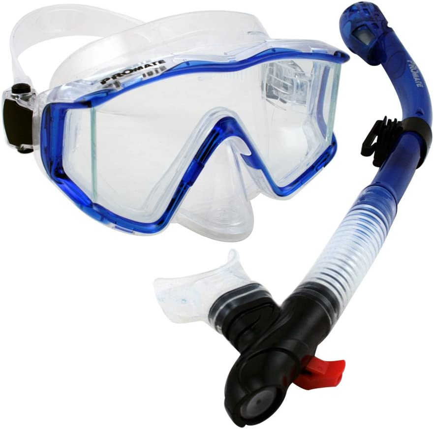 Scuba Diving//sk890 Promate Dry Whistle Purge Snorkel for Snorkeling