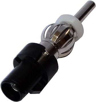 AERZETIX: Conector Adaptador Enchufe de Antena autoradio FAKRA Macho – DIN Macho para Coche vehículos C11998
