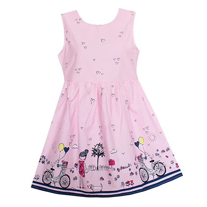 Amazon.com: Shybobbi Vestido de verano para niñas, color ...
