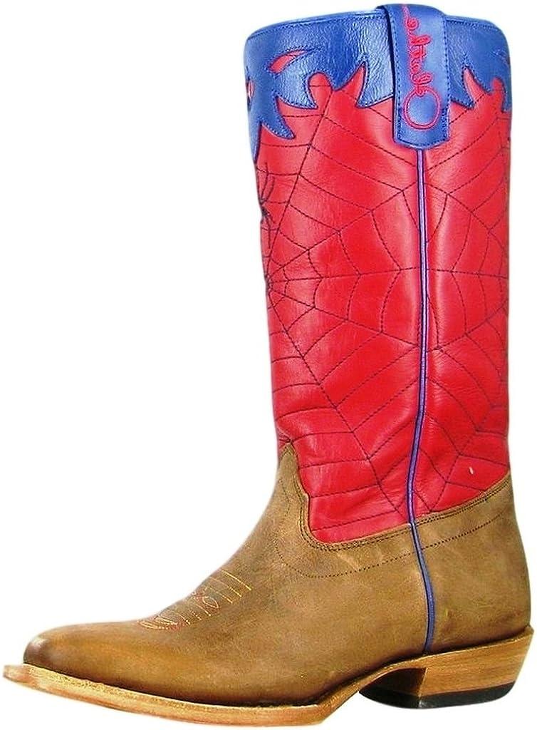 Olathe Boot Company Boys Kid s Briar Green Crazy Cat Top Cowboy Boots