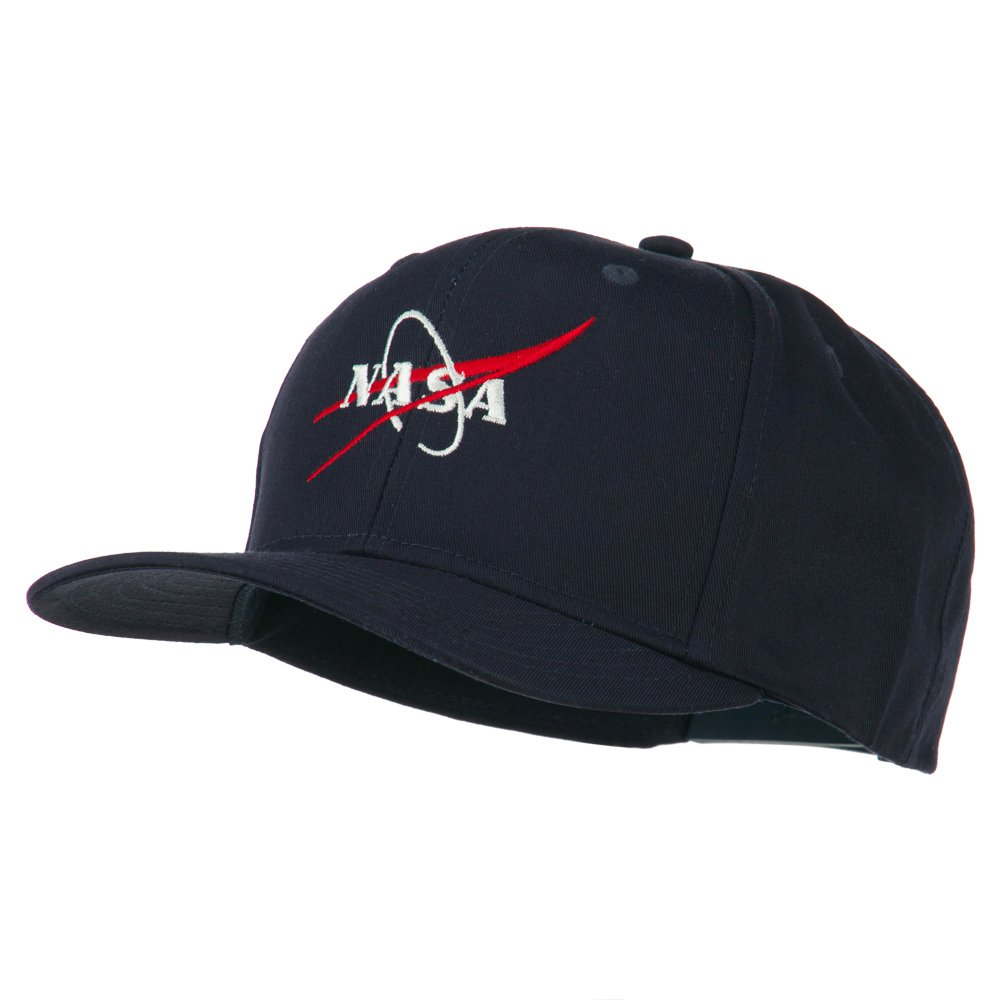 3d9754cb9a05 E4hats NASA Logo Embroidered Cotton Twill Cap - Navy OSFM at Amazon Men s  Clothing store