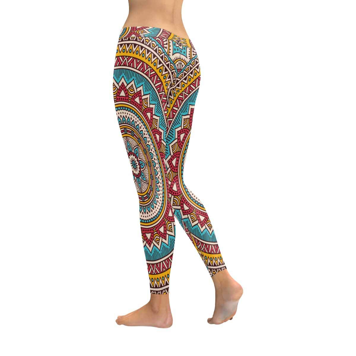 XXS-5XL InterestPrint Womens Soft Slim Leggings Mandala Vintage Running Workout Active Leggings