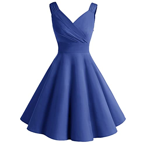 Bridesmay Womens Vintage Dresses 1950s A-line Retro Swing Party Dress